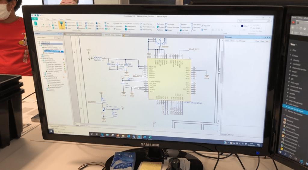 conception du circuit imprimé_saisie du schéma 2_conception d'une carte électronique