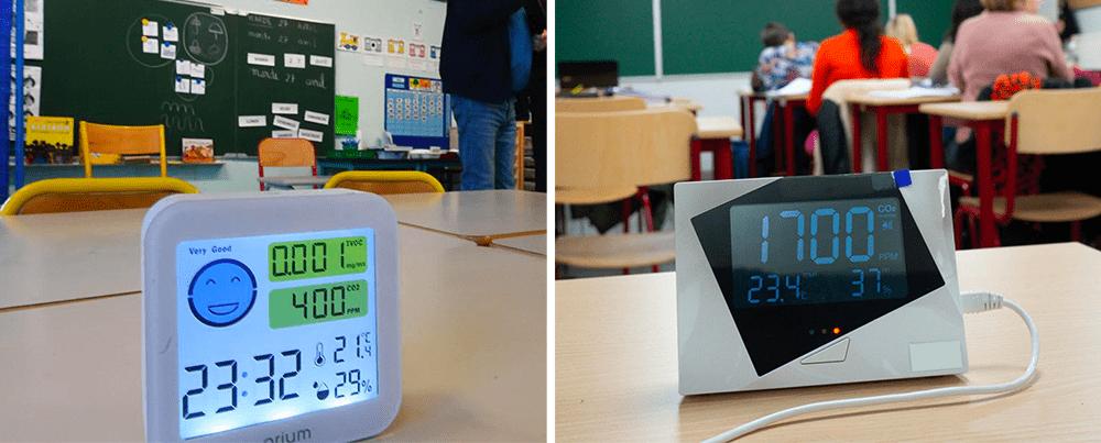 capteurs IoT mesurer CO2